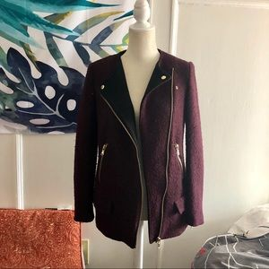Zara Burgundy Jacket